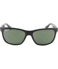RayBan Rb4181 57 Highstreet schwarz 601-9a polarisierten Sonnenbrillen
