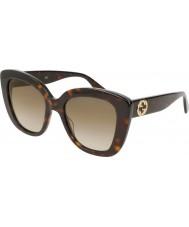 Gucci Damen gg0327s 002 52 Sonnenbrille