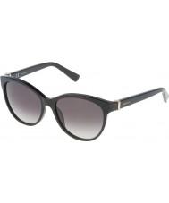 Nina Ricci Damen snr003-700 glänzende schwarze Sonnenbrille