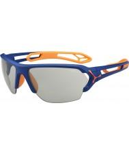 Cebe S-Spur große matt blau orange variochrom perfo Sonnenbrille