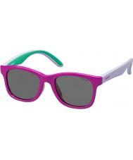 Polaroid Kinder pld8001-s t37 y2 fuchsia lila polarisierten Sonnenbrillen