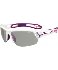 Cebe S-Spur Medium weiß lila variochrom perfo Sonnenbrille