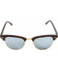 RayBan RB3016 51 Clubmaster Sand Schildpatt-gold 114530 Silber Sonnenbrille Spiegel