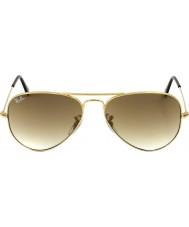 RayBan RB3025 58 Flieger große Metall Gold 001-51 Sonnenbrille
