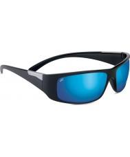 Serengeti Fasano glänzend schwarz polarisierten phd 555nm blau Spiegel-Sonnenbrille