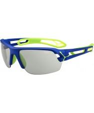 Cebe S-Track Medium dunkelblau grün variochrom perfo Sonnenbrille