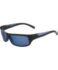 Bolle Fierce glänzend schwarz blau polarisiert Offshore-blaue Sonnenbrille