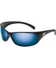 Bolle Recoil glänzend schwarz polarisierten Offshore-blaue Sonnenbrille