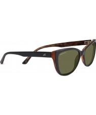 Serengeti Sophia glänzend schwarz polarisierten Sonnenbrillen 555nm