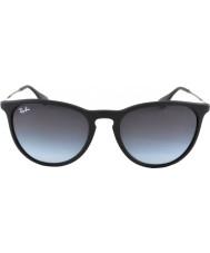 RayBan Rb4171 54 erika Gummi schwarze Sonnenbrille 622-8g