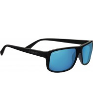 Serengeti Claudio Satin dunkelgrau polarisiert 555nm blau Spiegel-Sonnenbrille