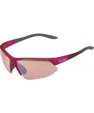 Bolle Abtrünnigen glänzend rosa grau Modulator stieg Pistole Sonnenbrille