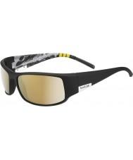 Bolle König glänzend schwarzen Berg polarisiert ag-14 Sonnenbrille