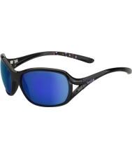 Bolle Sölden glänzend schwarz blau-violette Sonnenbrille