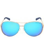Michael Kors Mk5004 59 chelsea Roségold 100325 blaue Sonnenbrille verspiegelt