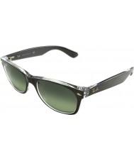 RayBan Rb2132-52 neue Wayfarer oben gebürstet Rotguss auf transparenten 6143-71 Sonnenbrille